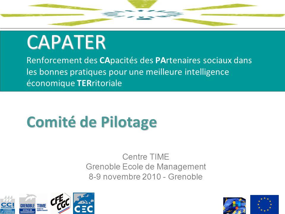 Centre TIME Grenoble Ecole de Management 8-9 novembre 2010 - Grenoble