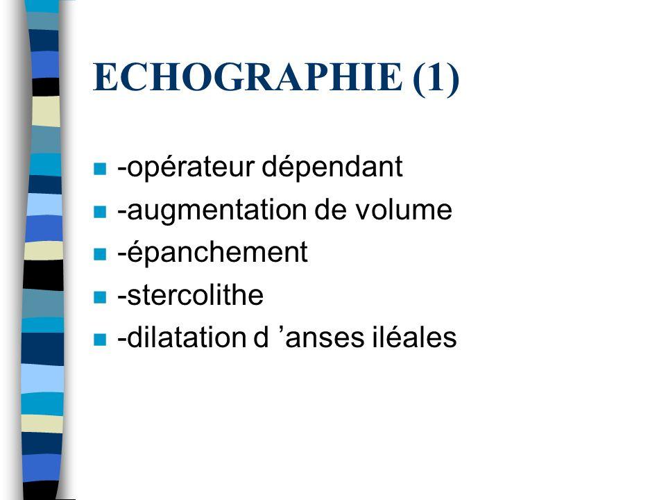 ECHOGRAPHIE (1) -opérateur dépendant -augmentation de volume