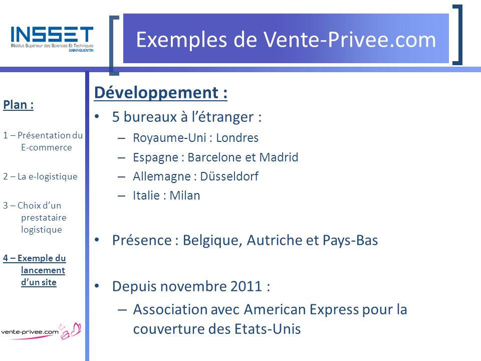 Ing nierie logistique la logistique du e commerce ppt t l charger - Vente privee belgium ...