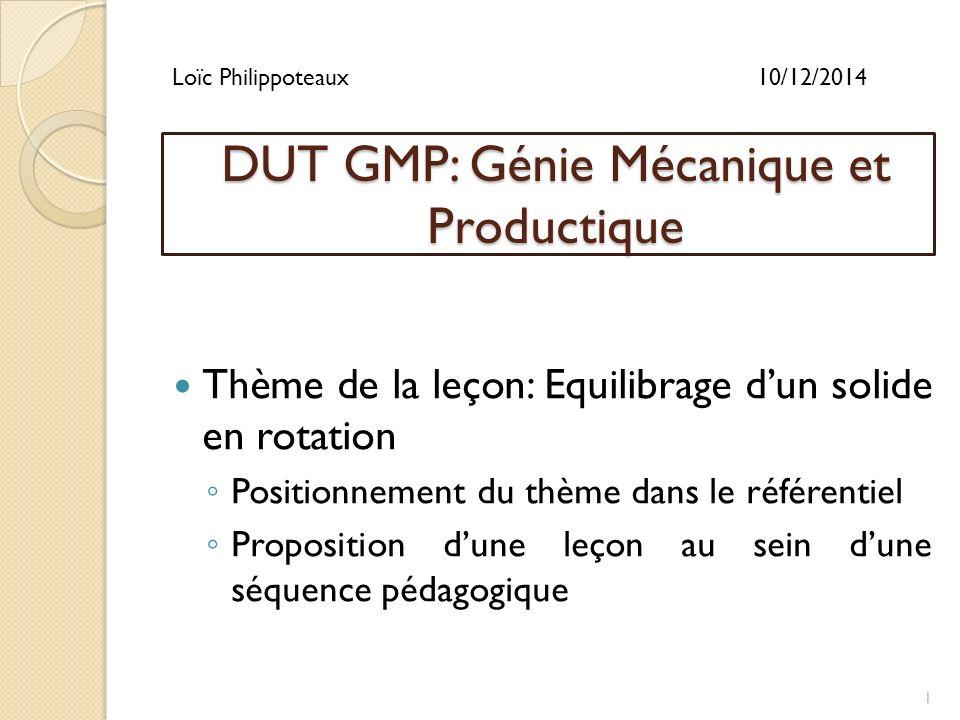 dut gmp  g u00e9nie m u00e9canique et productique