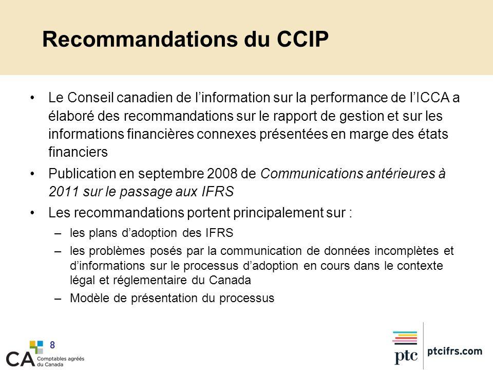 Recommandations du CCIP