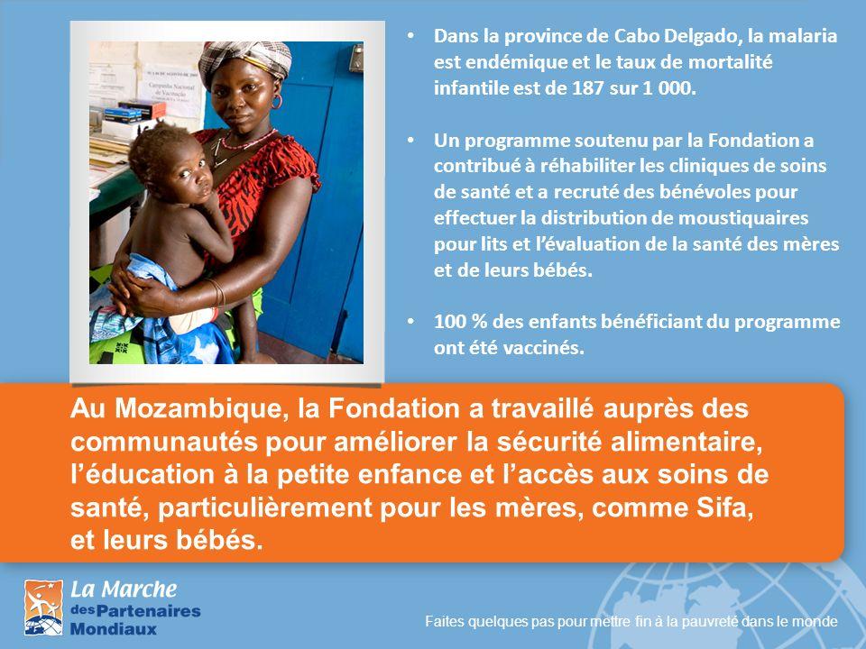 Dans la province de Cabo Delgado, la malaria est endémique et le taux de mortalité infantile est de 187 sur 1 000.