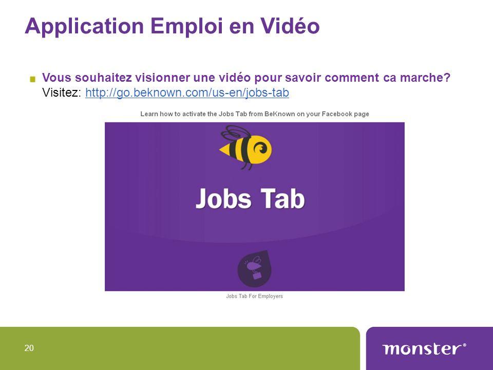Application Emploi en Vidéo