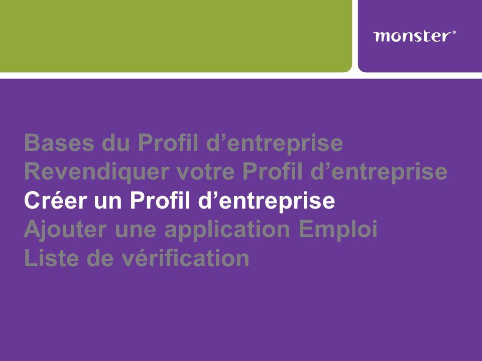 Bases du Profil d'entreprise