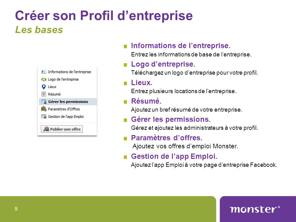 Créer son Profil d'entreprise Les bases