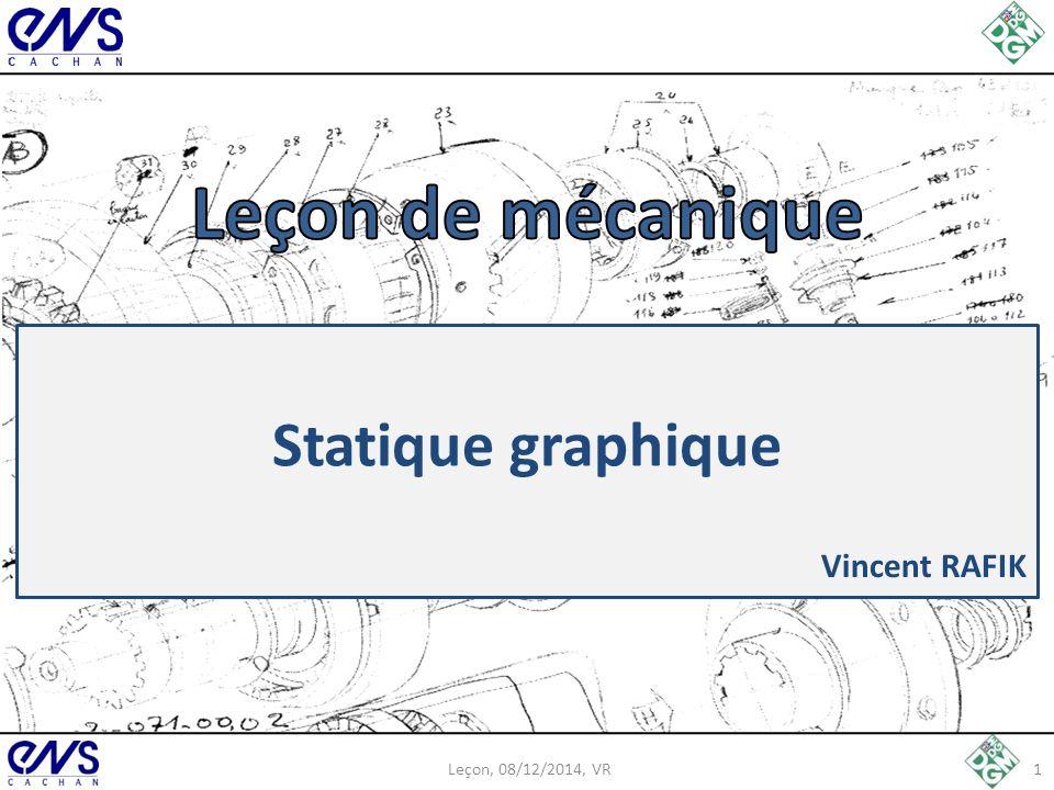 Leçon de mécanique Statique graphique Vincent RAFIK