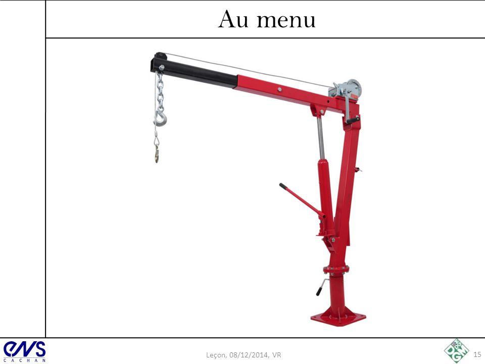 Au menu Leçon, 08/12/2014, VR