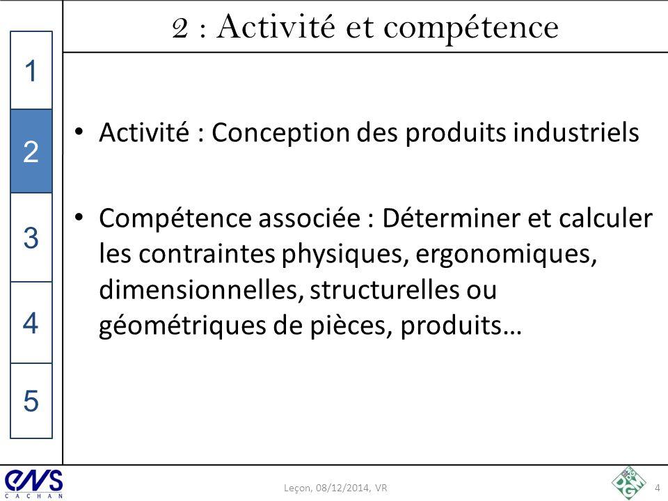 2 : Activité et compétence