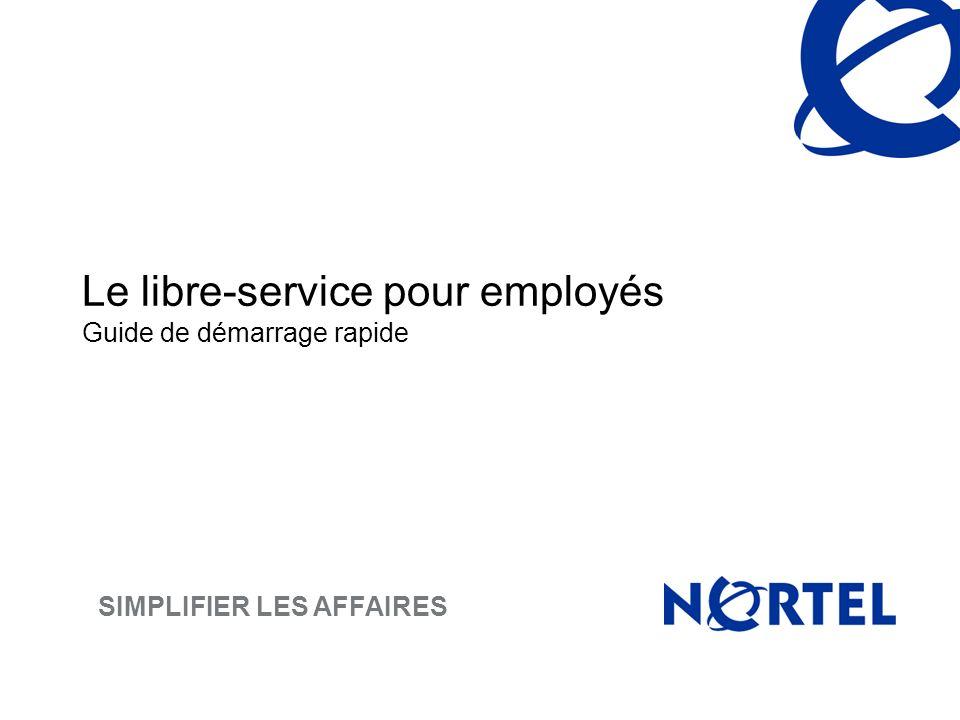 Le libre-service pour employés Guide de démarrage rapide