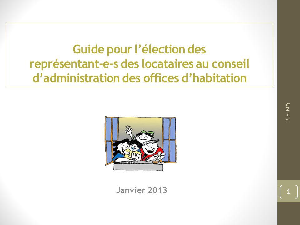 Guide pour l'élection des représentant-e-s des locataires au conseil d'administration des offices d'habitation