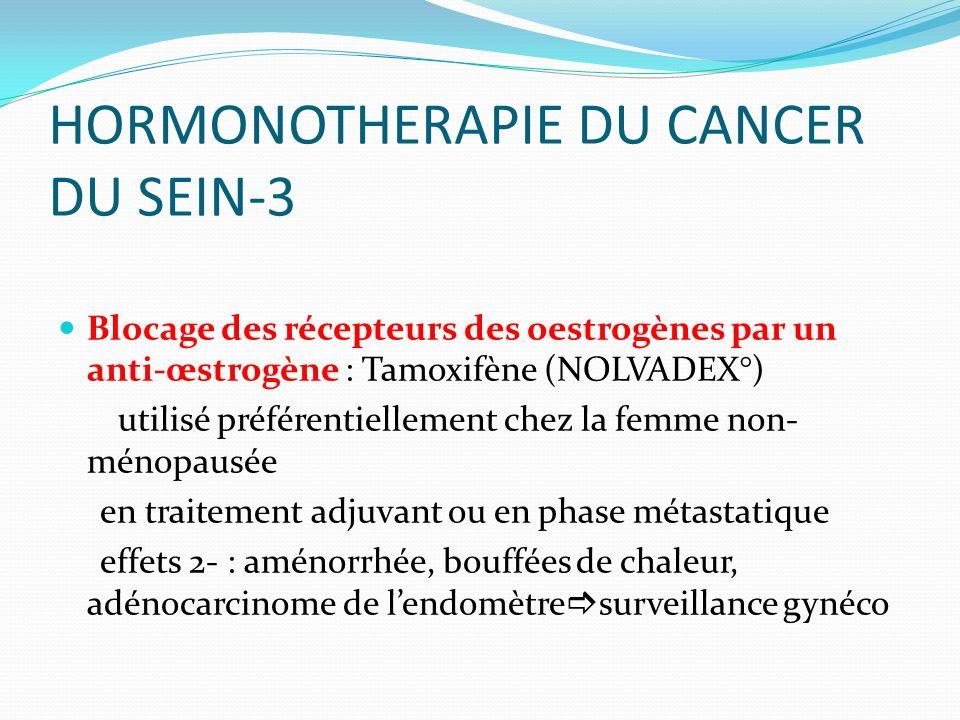 HORMONOTHERAPIE ET TRAITEMENTS CIBLES ANTI-CANCEREUX - ppt