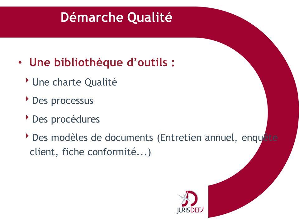 Démarche Qualité Une bibliothèque d'outils : Une charte Qualité