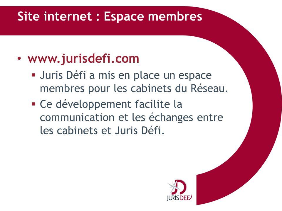 Site internet : Espace membres