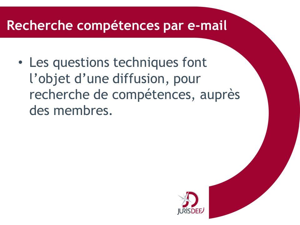 Recherche compétences par e-mail