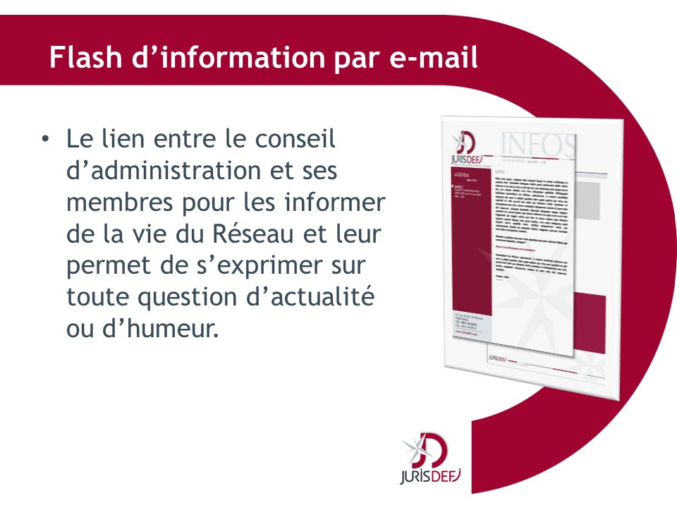 Flash d'information par e-mail