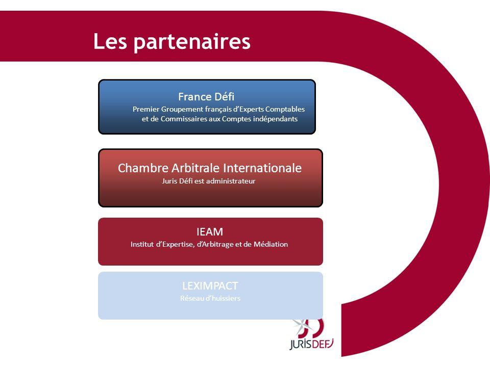 Les partenaires Chambre Arbitrale Internationale France Défi IEAM