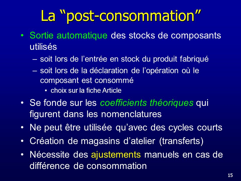 La post-consommation