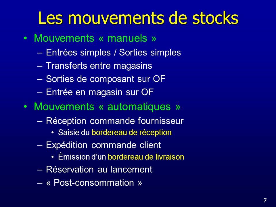 Les mouvements de stocks