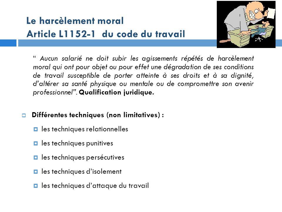 Risques psychosociaux et maintien dans l emploi ppt - Peut on porter plainte pour harcelement moral ...