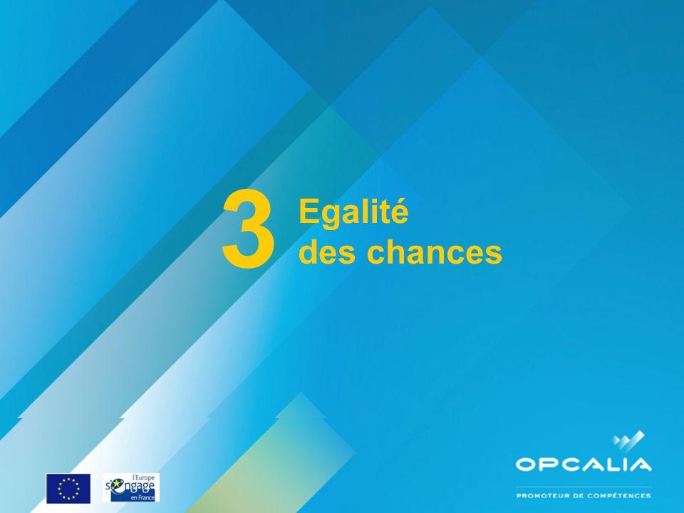 3 Egalité des chances Enquête conjoncture 2010 Questionnaire
