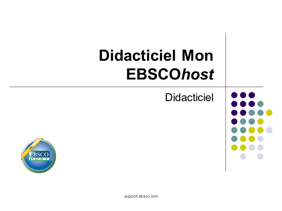 Didacticiel Mon EBSCOhost