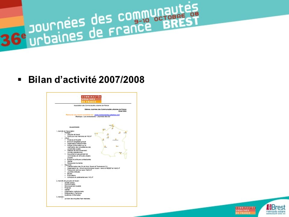 Bilan d'activité 2007/2008