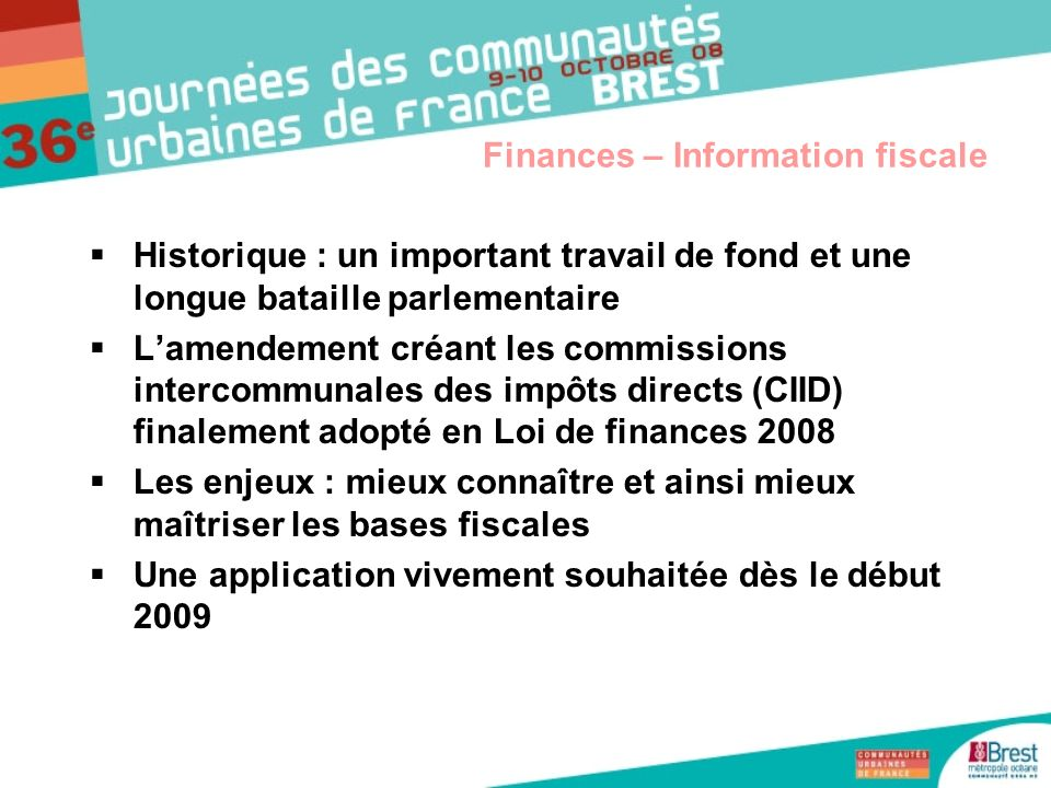 Finances – Information fiscale