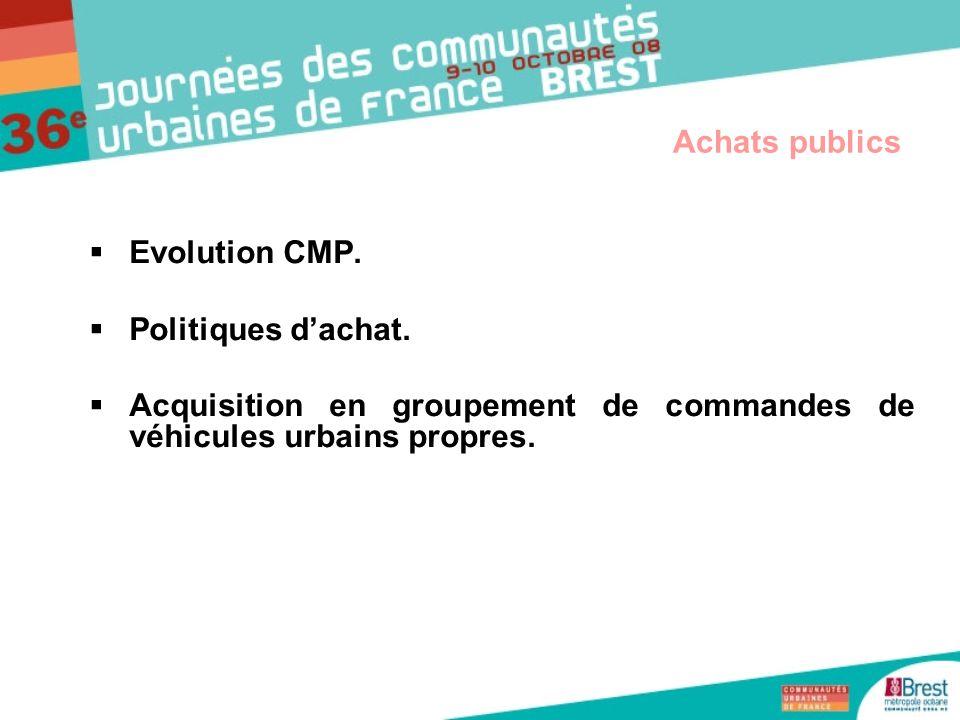 Acquisition en groupement de commandes de véhicules urbains propres.