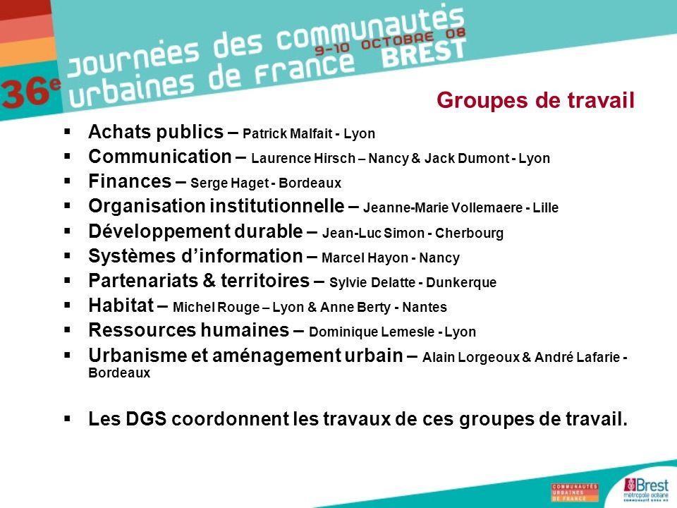 Groupes de travail Achats publics – Patrick Malfait - Lyon
