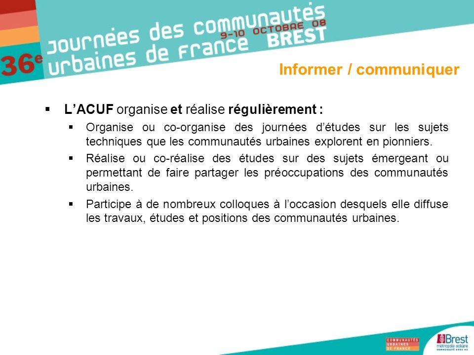 Informer / communiquer
