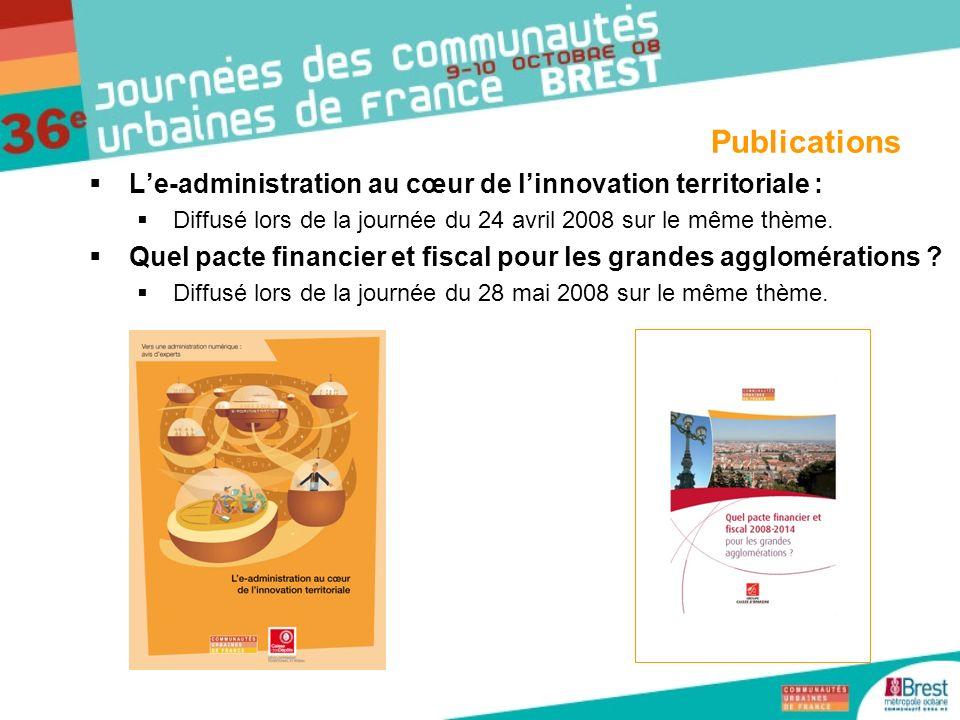 Publications L'e-administration au cœur de l'innovation territoriale :