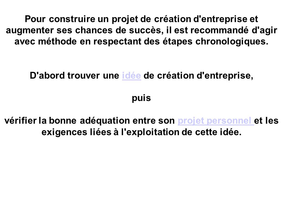 Cr ation d entreprise de l id e la cr ation ppt for Idee creation entreprise service
