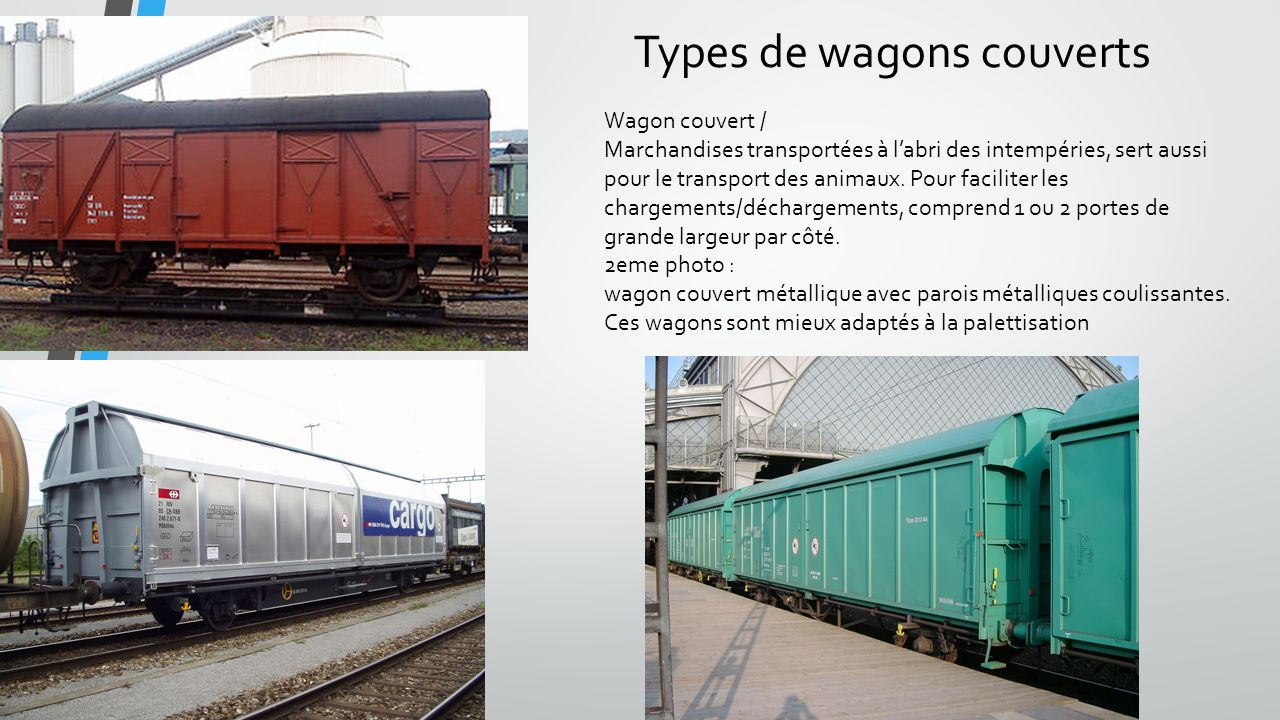 Types de wagons couverts