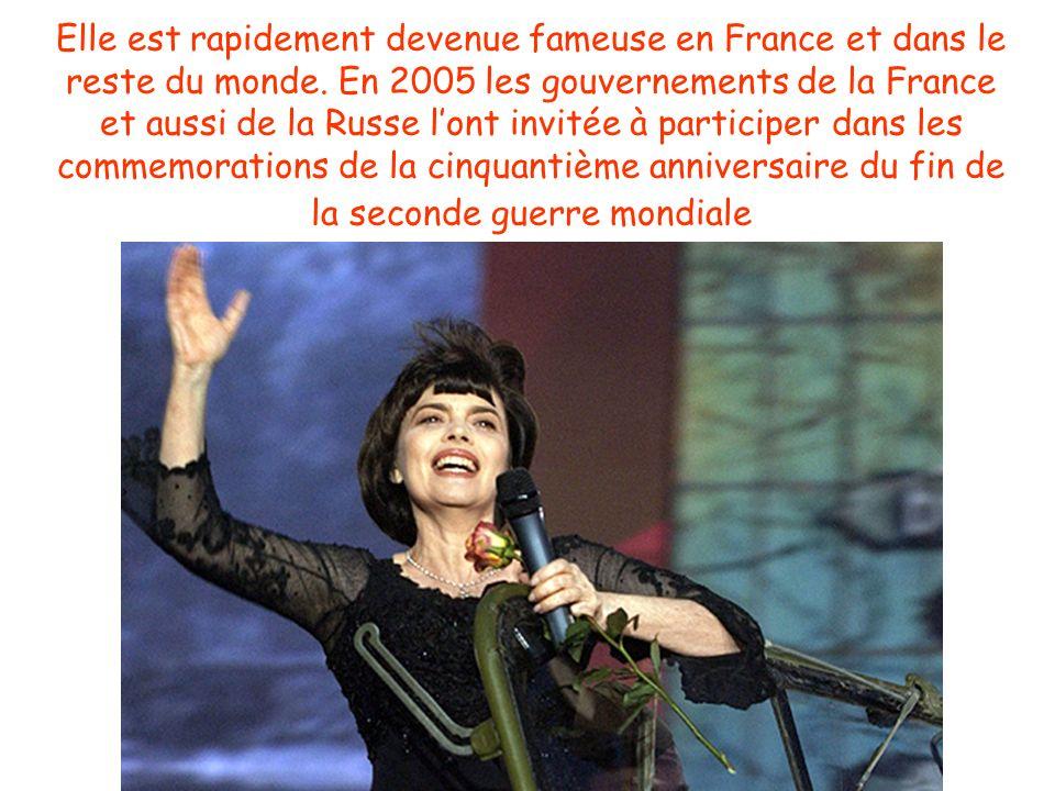Elle est rapidement devenue fameuse en France et dans le reste du monde.