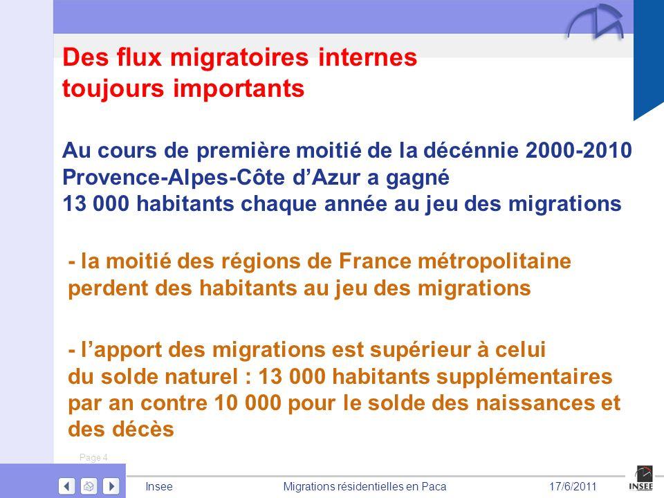 Des flux migratoires internes toujours importants