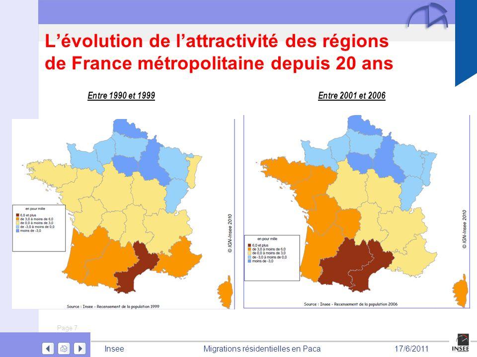 L'évolution de l'attractivité des régions de France métropolitaine depuis 20 ans