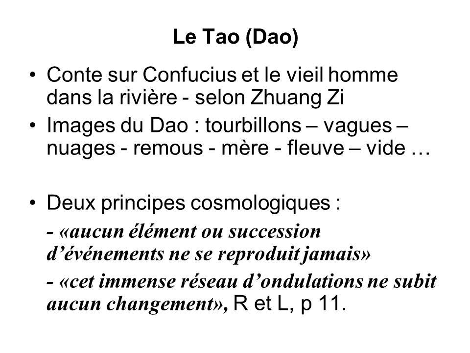 Le Tao (Dao)Conte sur Confucius et le vieil homme dans la rivière - selon Zhuang Zi.