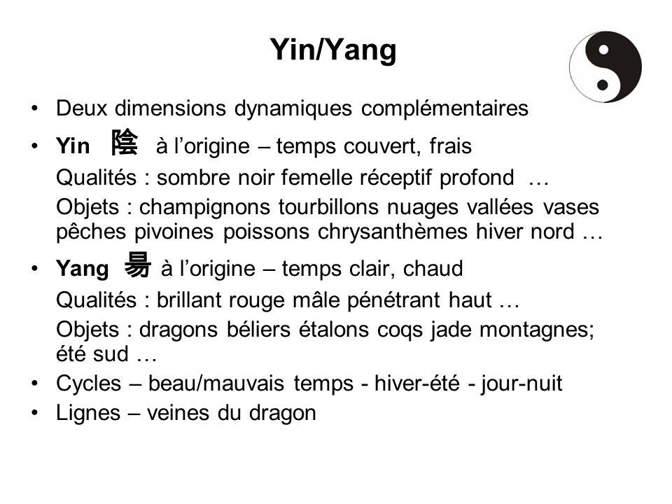 Yin/Yang Deux dimensions dynamiques complémentaires