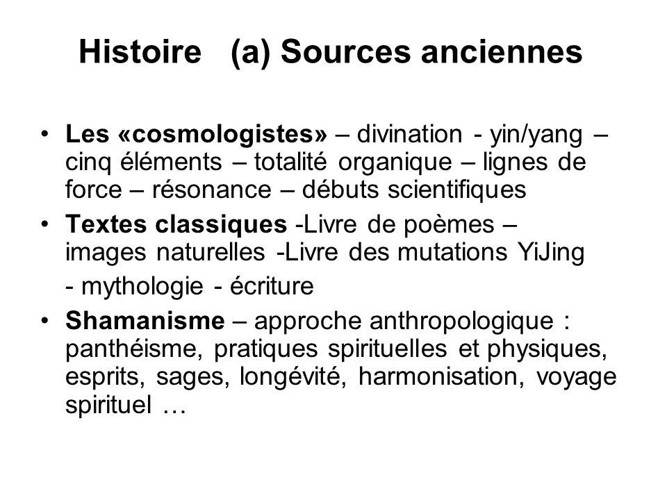 Histoire (a) Sources anciennes