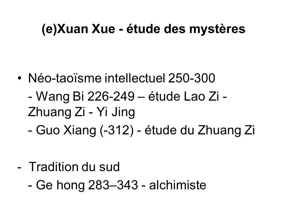 (e)Xuan Xue - étude des mystères