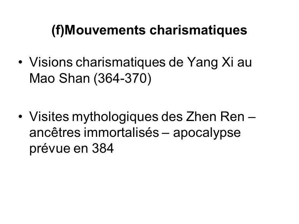 (f)Mouvements charismatiques