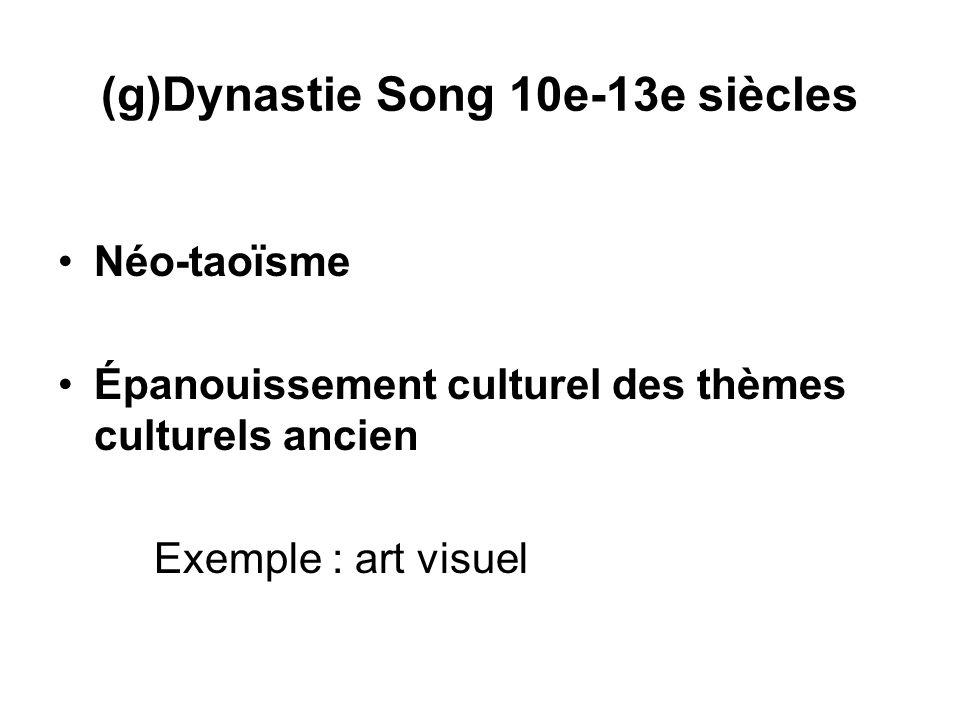 (g)Dynastie Song 10e-13e siècles