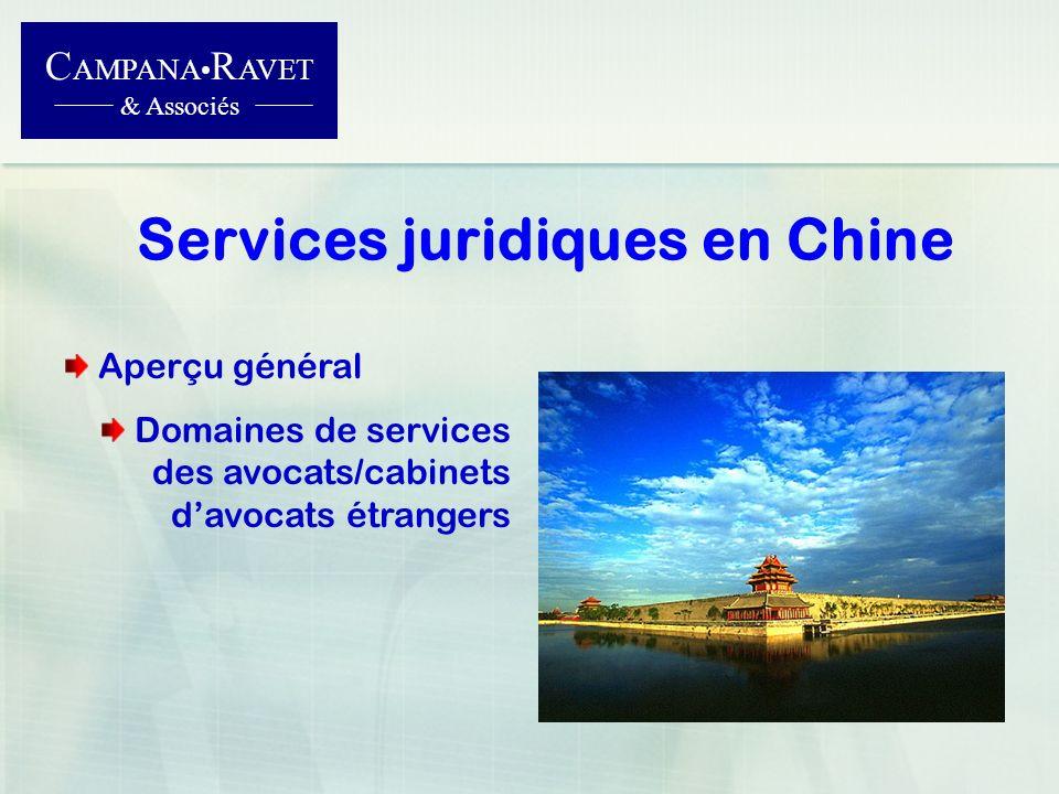 Services juridiques en Chine