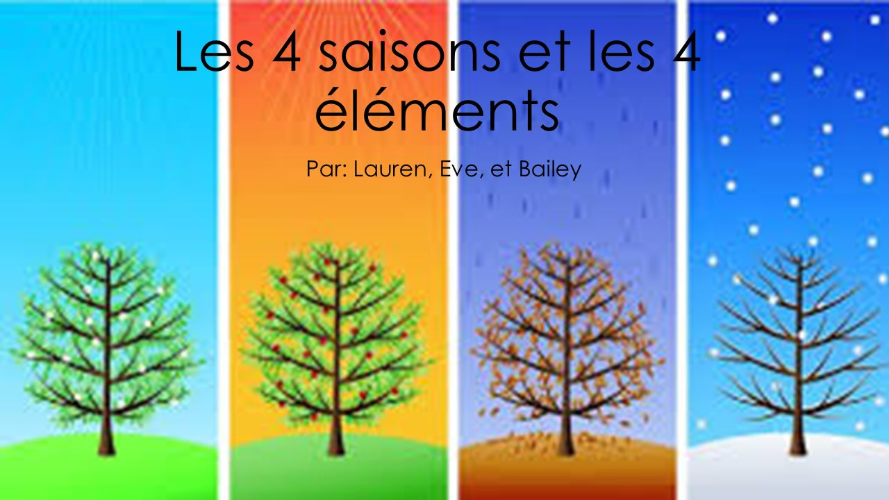 les 4 saisons et les 4 l ments ppt video online t l charger. Black Bedroom Furniture Sets. Home Design Ideas