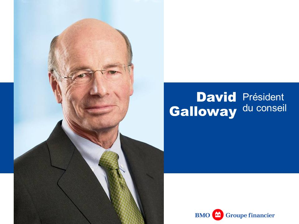 David Galloway Président du conseil [IN FRENCH]
