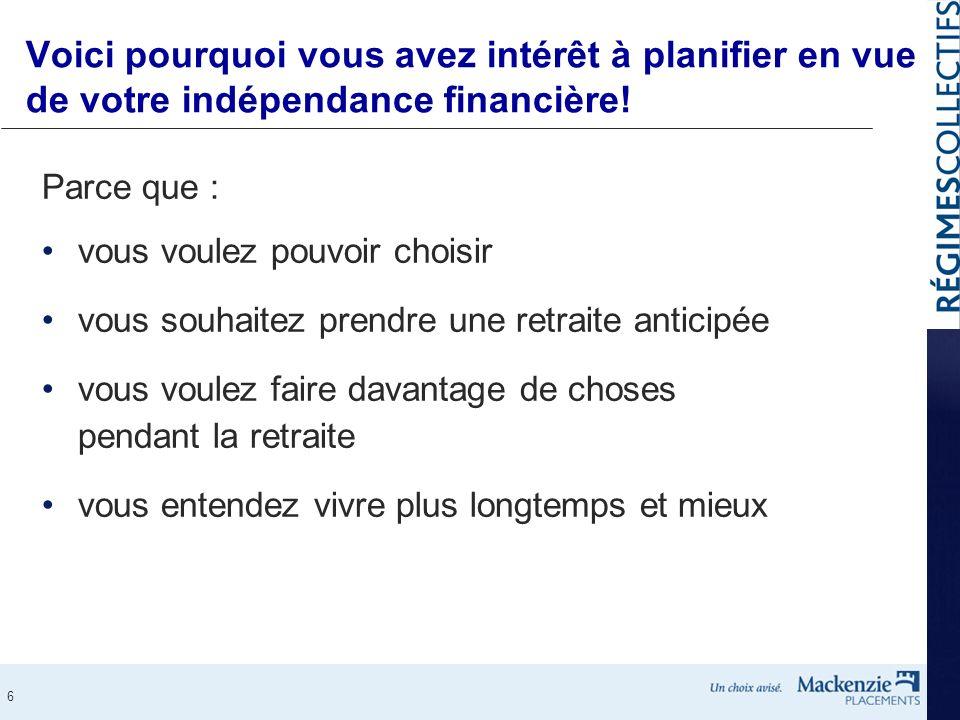 Voici pourquoi vous avez intérêt à planifier en vue de votre indépendance financière!