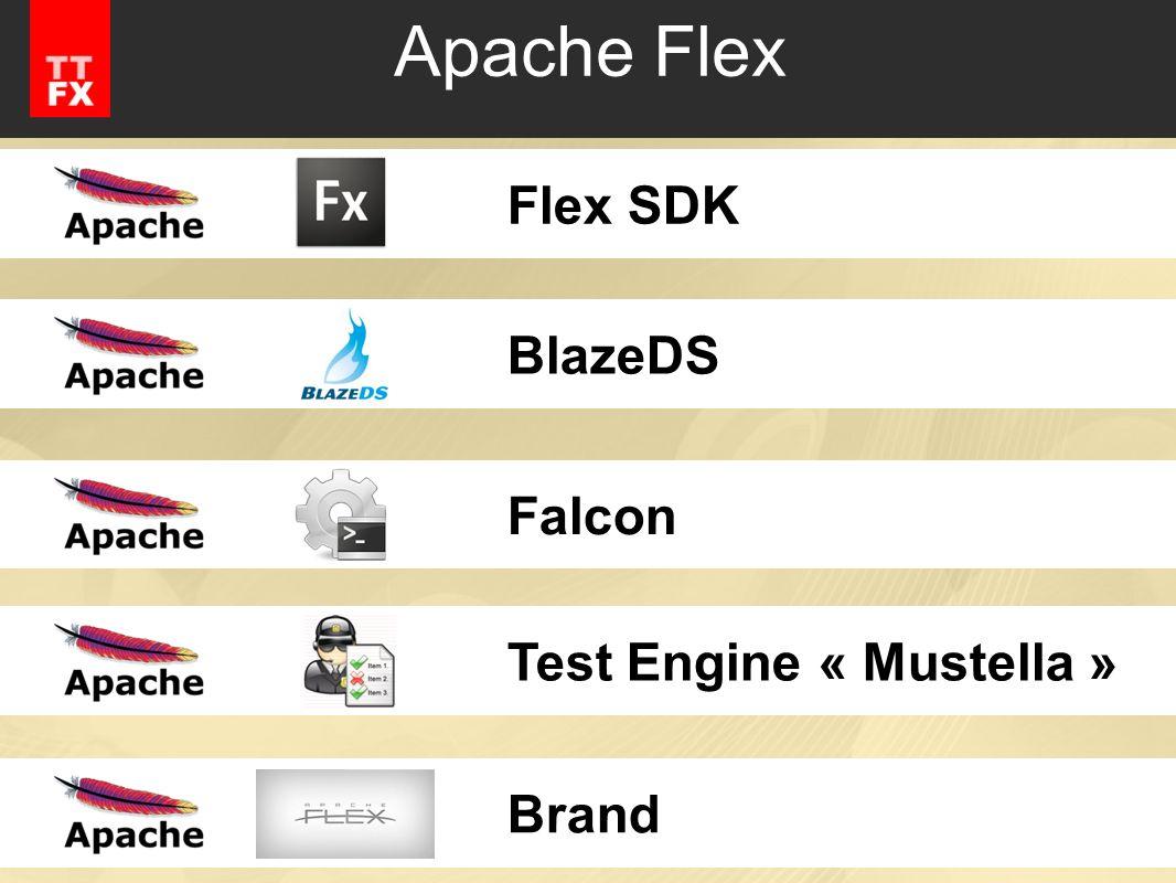 Apache Flex Flex SDK BlazeDS Falcon Test Engine « Mustella » Brand