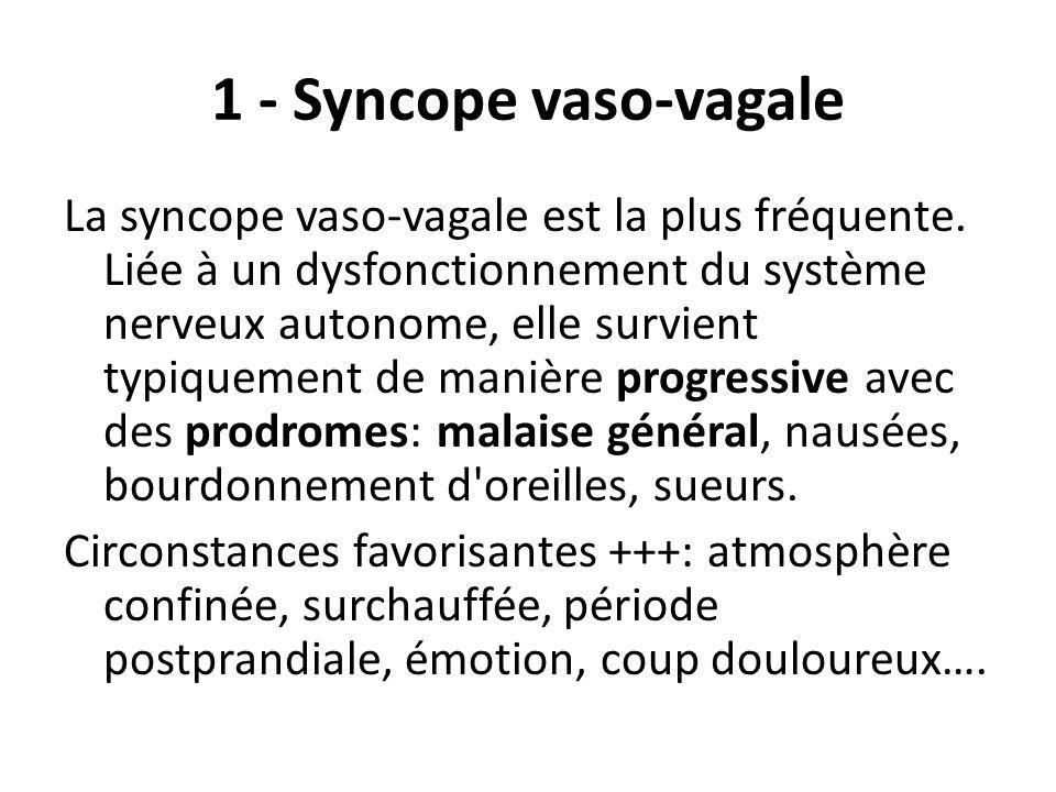 1 - Syncope vaso-vagale