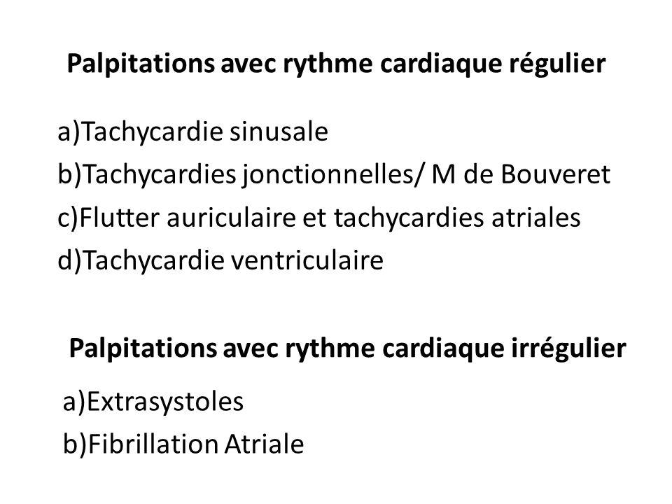 Palpitations avec rythme cardiaque régulier