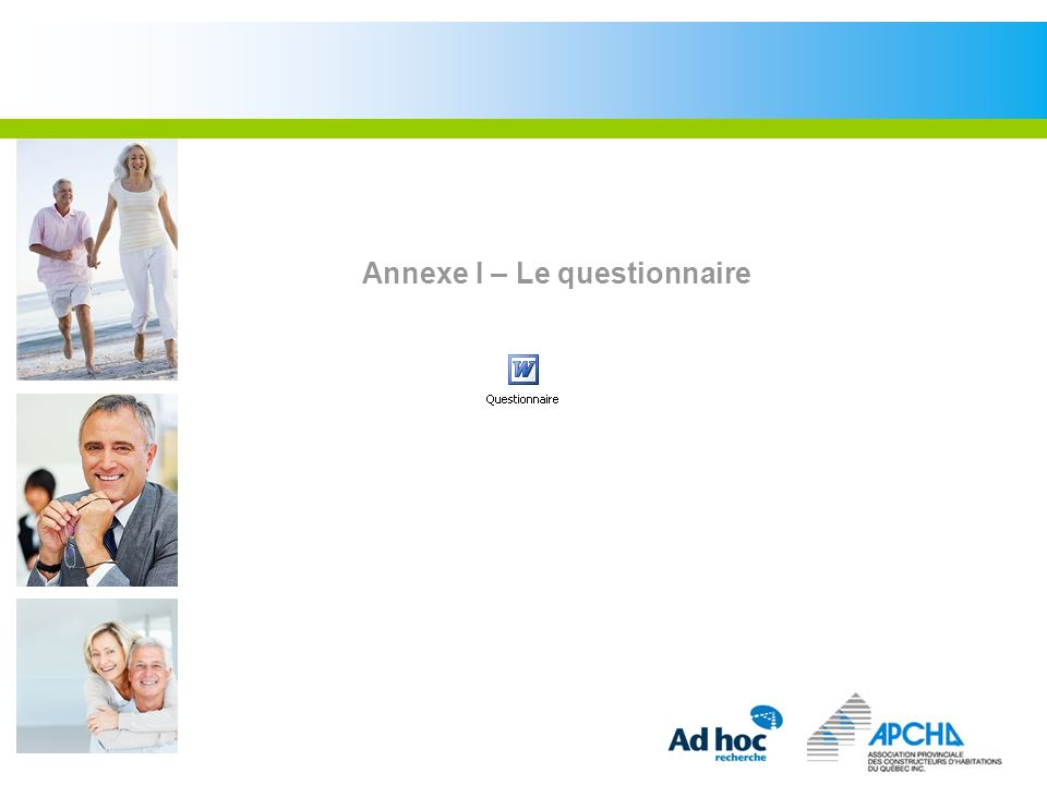 Annexe I – Le questionnaire